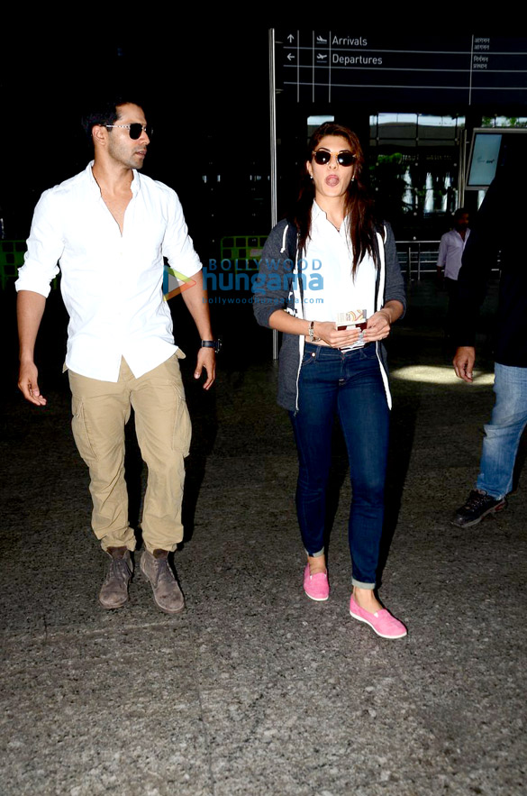 Varun Dhawan & Jacqueline Fernandez return from 'Dishoom' schedule