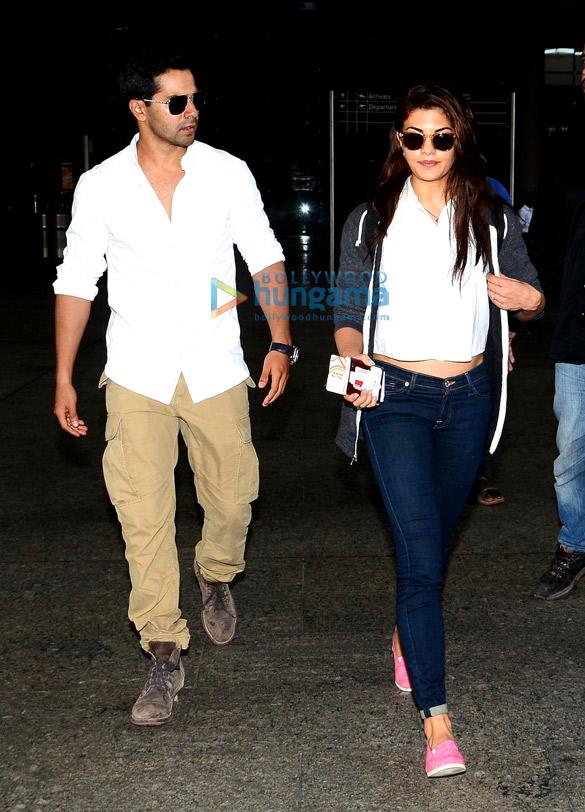 Varun Dhawan & Jacqueline Fernandez return from 'Dishoom' schedule