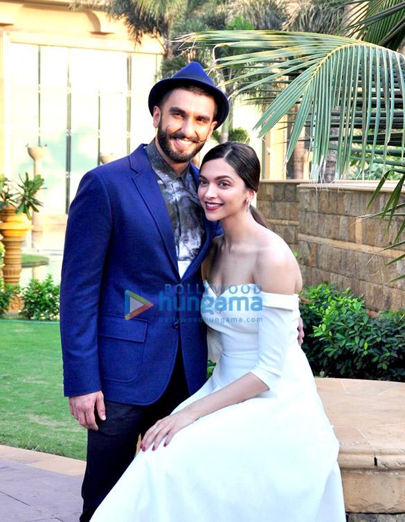 Ranveer Singh & Deepika Padukone promoting 'Bajirao Mastani'