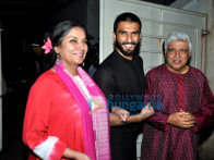 Shabana Azmi, Ranveer Singh, Javed Akhtar