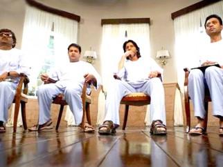 Movie Still From The Film Krazzy 4,Rajpal Yadav,Suresh Menon,Arshad Warsi,Irrfan Khan