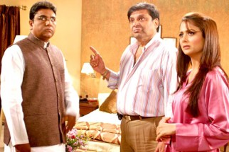 On The Sets Of The Film Banda Yeh Bindaas Hai Featuring Amrita Arora