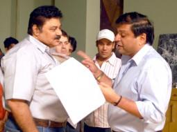 On The Sets Of The Film Banda Yeh Bindaas Hai Featuring Satish Shah