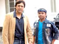 On The Sets Of The Film Banda Yeh Bindaas Hai Featuring Govinda,Rajpal Yadav