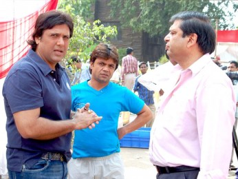 On The Sets Of The Film Banda Yeh Bindaas Hai Featuring Govinda,Rajpal Yadav