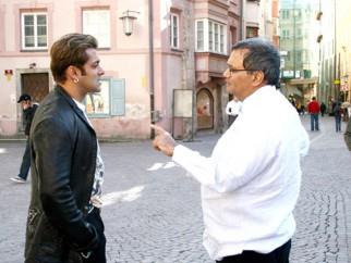 On The Sets Of The Film Yuvvraaj Featuring Salman Khan,Subhash Ghai