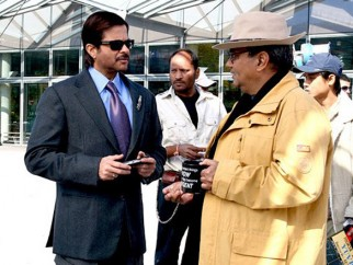 On The Sets Of The Film Yuvvraaj Featuring Anil Kapoor,Subhash Ghai