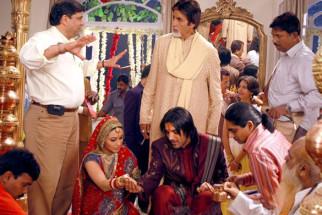 On The Sets Of The Film Baabul Featuring Amitabh Bachchan,Rani Mukerji,John Abraham