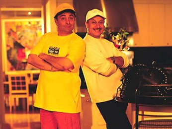 Movie Still From The Film Yeh Hai Jalwa Featuring Rishi Kapoor,Anupam Kher