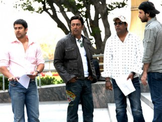 On The Sets Of The Film Kambakkht Ishq Featuring Aftab Shivdasani,Vindu Dara Singh