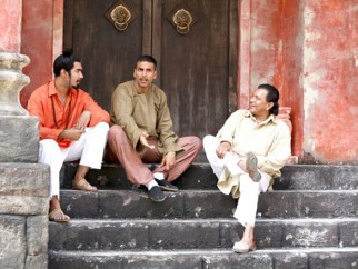 On The Sets Of The Film Chandni Chowk To China Featuring Akshay Kumar,Mithun Chakraborty