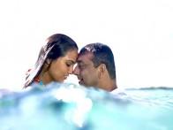 Movie Still From The Film Blue,Lara Dutta,Sanjay Dutt