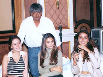 On The Sets Of The Film Awara Paagal Deewana Featuring Amrita Arora,Preeti Jhangiani,Aarti Chabria