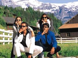 Movie Still From The Film Ajnabee Featuring Kareena,Bobby,Akshay,Bipasha Basu