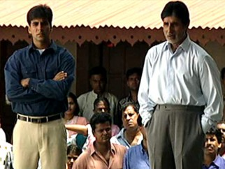 On The Sets Of The Film Ek Rishtaa The Bond of Love  Featuring Akshay Kumar,Amitabh Bachchan