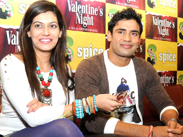 Cast of 'Valentine's Night' grace the film's press meet at Spice Mall in Noida