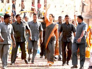 On The Sets Of The Film Raajneeti Featuring Katrina Kaif