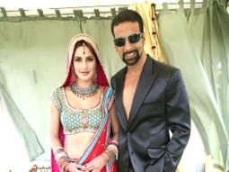 On The Sets Of The Film Singh Is King Featuring Katrina Kaif,Akshay Kumar