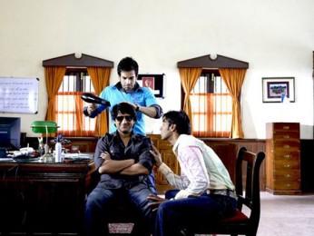 Movie Still From The Film Golmaal Returns,Tusshar Kapoor,Arshad Warsi,Ajay Devgn