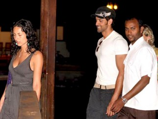 On The Sets Of The Film Kites Featuring Barbara Mori,Hrithik Roshan