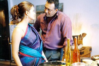 Movie Still From The Film Shabd Featuring Aishwarya Rai,Sanjay Dutt