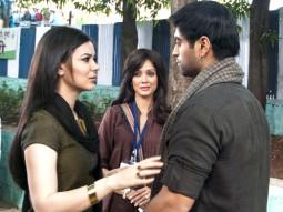 Movie Still From The Film Chakradhaar,Urvashi Sharma,Vidya Malvade,Abhishek Anand