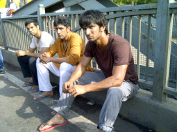 On The Sets Of The Film Kai Po Che! Featuring Sushant Singh Rajput,Amit Sadh,Raj Kumar Yadav