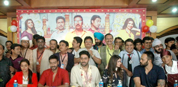 'Bol Bachchan' team on the sets of Taarak Mehta Ka Ooltah Chashmah