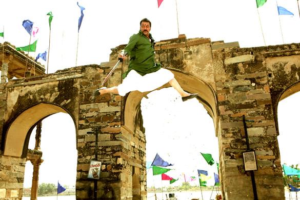 Movie Still From The Film Sher,Sanjay Dutt