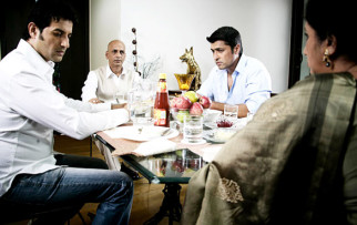 Movie Still From The Film Riwayat,Khalid Siddiqui,Saurabh Dubey,Salil Ankola,Mangal Kenkre