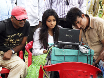 On The Sets Of The Film Riwayat,Samapika Debnath,Narendra Jha