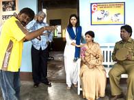 On The Sets Of The Film Riwayat,Mangal Kenkre,Narendra Jha,Samapika Debnath