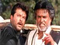 Movie Still From The Film Bulandi Featuring Anil Kapoor,Rajnikanth