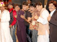 Movie Still From The Film Bhavnao Ko Samjho,Sunil Pal,Raju Shrivastava,Ehsaan Qureshi,Naveen Prabhakar,Johny Lever