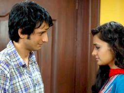 Movie Still From The Film Toh Baat Pakki,Sharman Joshi,Uvika Chaudhary