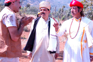 Movie Still From The Film Maalik Ek,Govind Namdeo,Shakti Kapoor