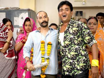 Movie Still From The Film Na Ghar Ke Na Ghaat Ke,Rahul Aggarwal,Ravi Kissen