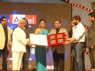 Photo Of Neeraj Pathak,Monty Sharma,Eesha Koppikhar,Subhash Ghai,Sunny Deol,Krishan Choudhary From The Audio release of 'Right Yaaa Wrong'