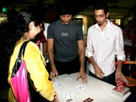 Photo Of Vaibhav Talwar,Dhruv Ganesh From Cast of Teen Patti at a promotional event at Inorbit Mall