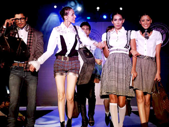 Top models at Alchemy show of L.S Raheja Technical institute
