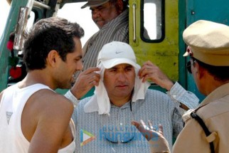 On The Sets Of The Fillim of Road,Movie Featuring,Abhay Deol,Satish Kaushik
