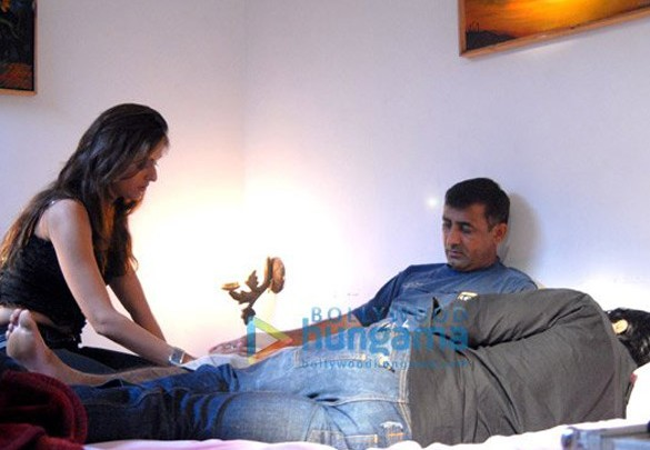On The Sets Of The Fillim Toss,Featuring,Aarti Chhabria,