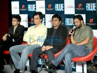 Photo Of Dhillin Mehta,Anthony D'souza,A R Rahman,Resul Pookutty From A R Rahman and Resul Pookutty unveil the first look of 'Blue'