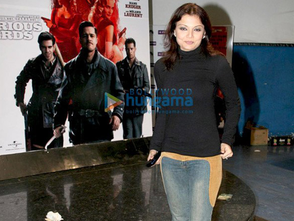 Celebs at the premiere of film Inglorious Basterds