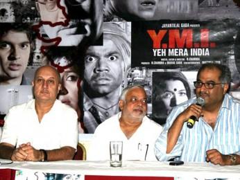 Photo Of Anupam Kher,N Chandra,Boney Kapoor From 'Yeh Mera India' media meet