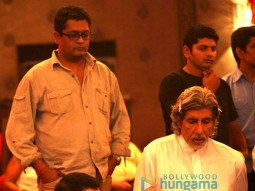 On The Sets Of The Fillim of Aladin Featuring,Sujoy Ghosh,Amitabh Bachchan