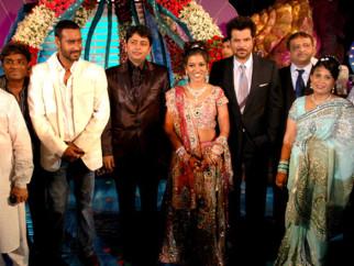 Photo Of N Chandra,Johny Lever,Ajay Devgan,Dr. Ninal,Bhavita,Anil Kapoor,Praful Satra From The Celebs grace Bhavita Gada's wedding celebration