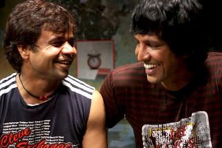 Movie Still From The Film Benny and Babloo,Rajpal Yadav,Kay Kay Menon