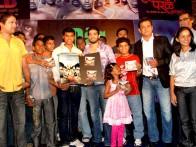 Photo Of Vikram Khakhar,Arya Babbar,Gulshan Grover,Jawad Ahmad From The Audio release of 'Virsa'