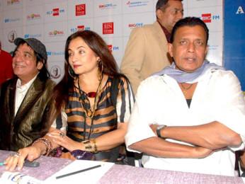 Photo Of Jagdeep,Salma Agha,Mithun Chakraborty From Press conference of Dadasaheb Phalke Awards